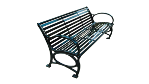 Commercial Outdoor Metal Park Bench SPB-671 Cover Image