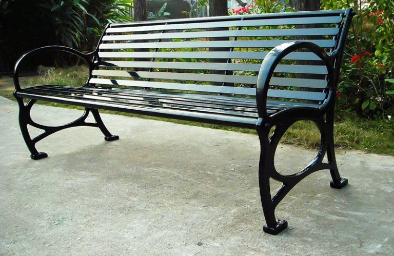 Commercial Outdoor Metal Park Bench SPB-671 Image 1