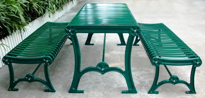 Commercial Outdoor Metal Picnic Table SPP-304 Image 1