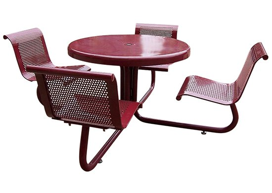 Commercial Outdoor Picnic Table SPP-207B with back support