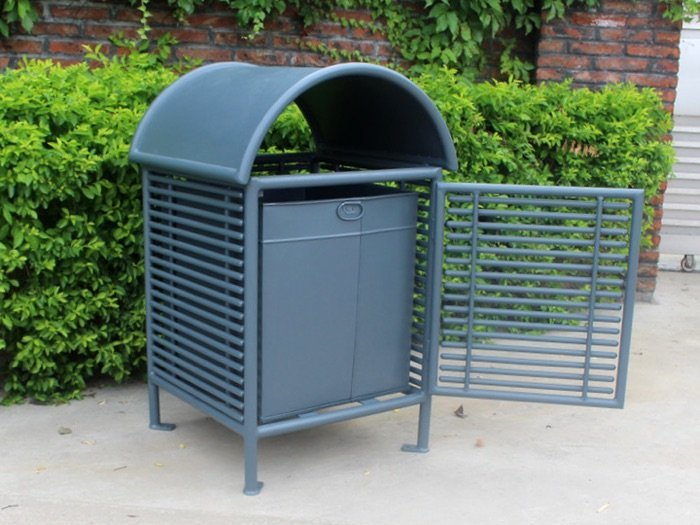 Commercial Outdoor Trash Receptacle SPT-101 Image 2