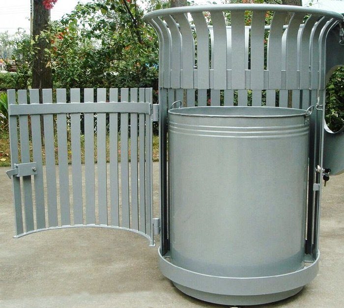 Commercial Outdoor Trash Receptacle SPT-104B Image 1