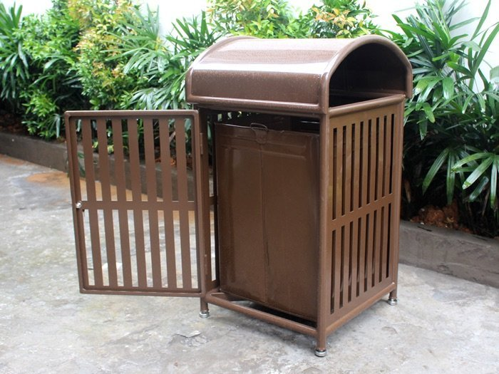 Commercial Outdoor Trash Receptacle SPT-110A Image 2