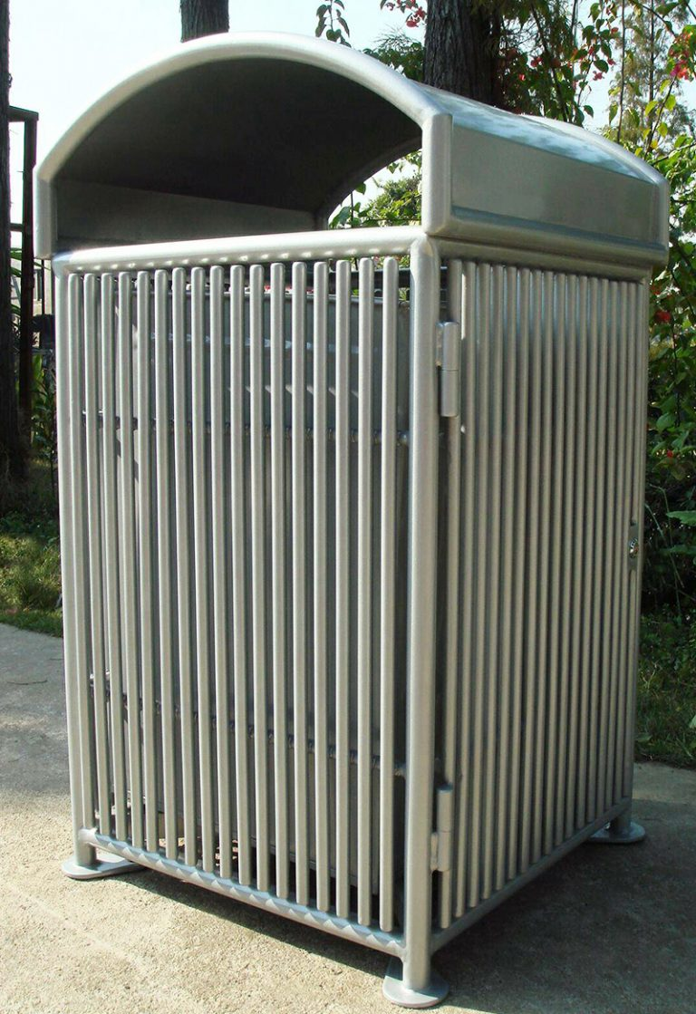 Commercial Outdoor Trash Receptacle SPT-110B Image 2