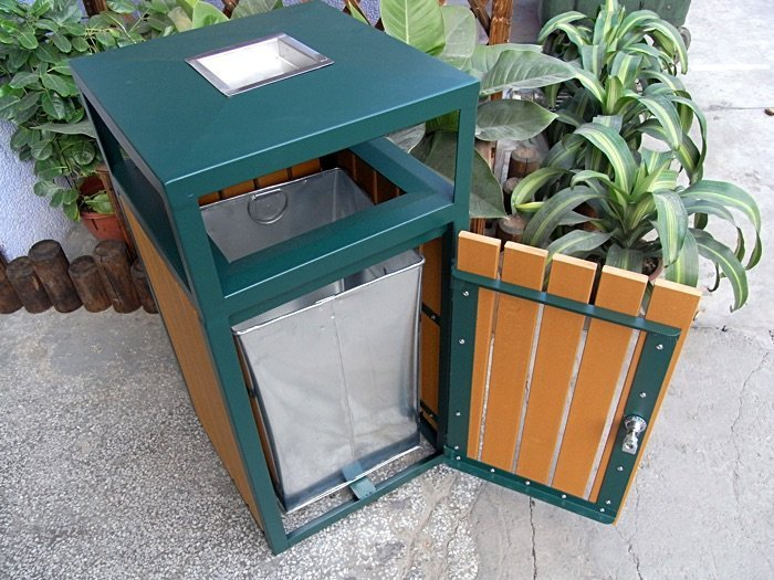 Commercial Outdoor Trash Receptacle SPT-201 Image 1