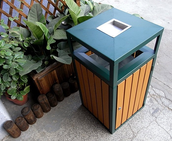 Commercial Outdoor Trash Receptacle SPT-201 Image 2