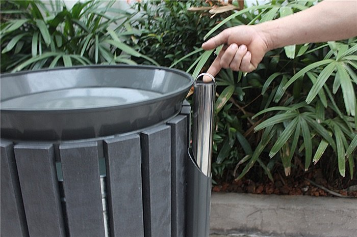 Commercial Outdoor Trash Receptacle SPT-202 Image 2