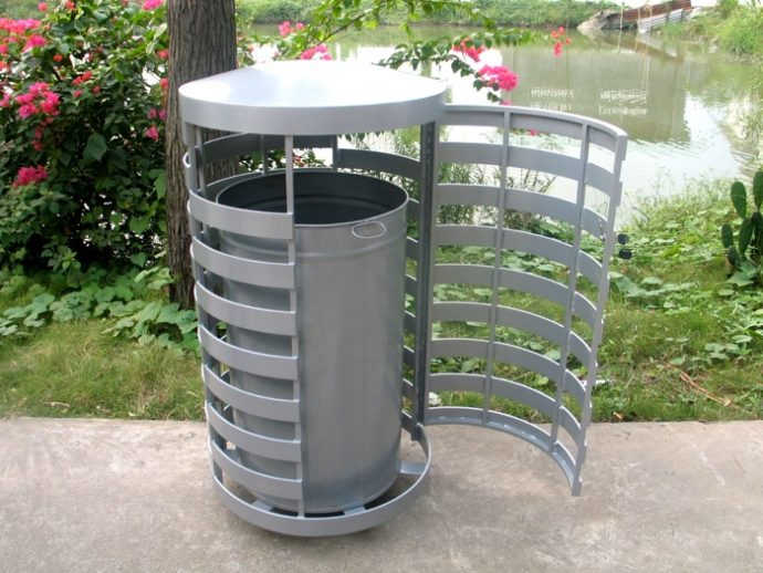 Commercial Outdoor Trash Receptacle SPT-C15 Image 1