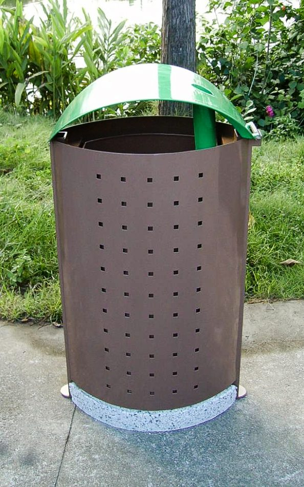Commercial Outdoor Trash Receptacle SPT-C33 Image 2