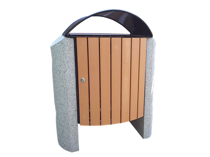 Commercial Outdoor Trash Receptacle SPT-S03 Cover Image