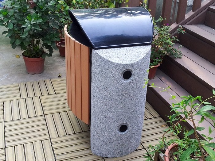 Commercial Outdoor Trash Receptacle SPT-S03 Image 1