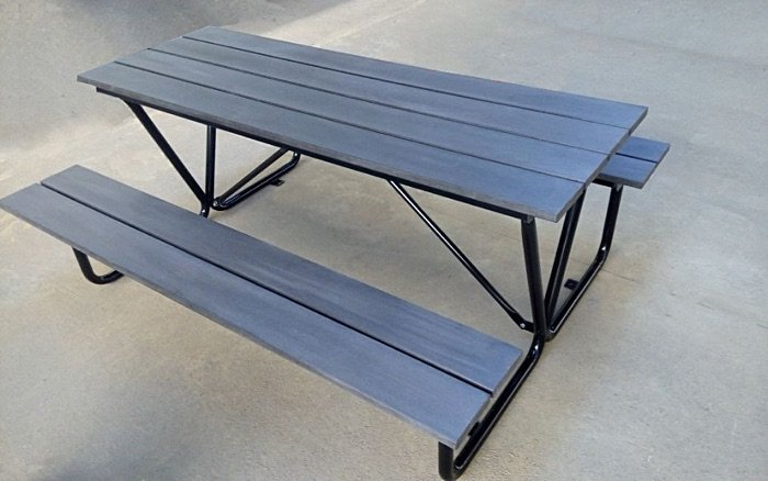 Commercial Recycled Plastic Outdoor Picnic Table SPP-102 Image 1