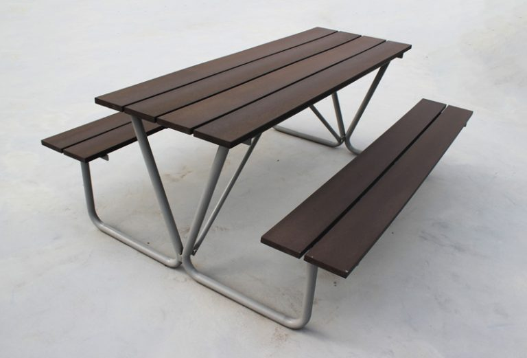 Commercial Recycled Plastic Outdoor Picnic Table SPP-102 Image 2