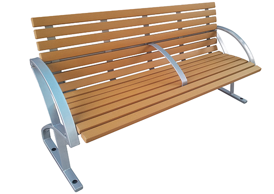 Commercial Recycled Plastic Park Bench SPB-040 Cover Image