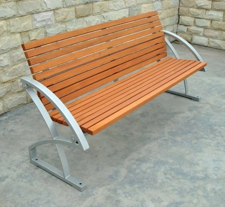 Commercial Recycled Plastic Park Bench SPB-040 Image 2