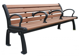 Commercial Recycled Plastic Park Bench SPB-050 Cover Image