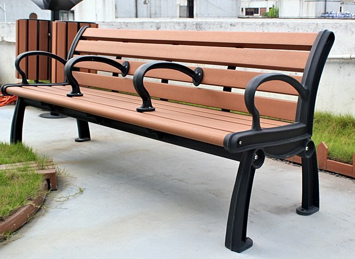Commercial Recycled Plastic Park Bench SPB-050 Image 1