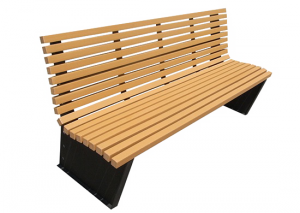 Commercial Recycled Plastic Park Bench SPB-055 Cover Image