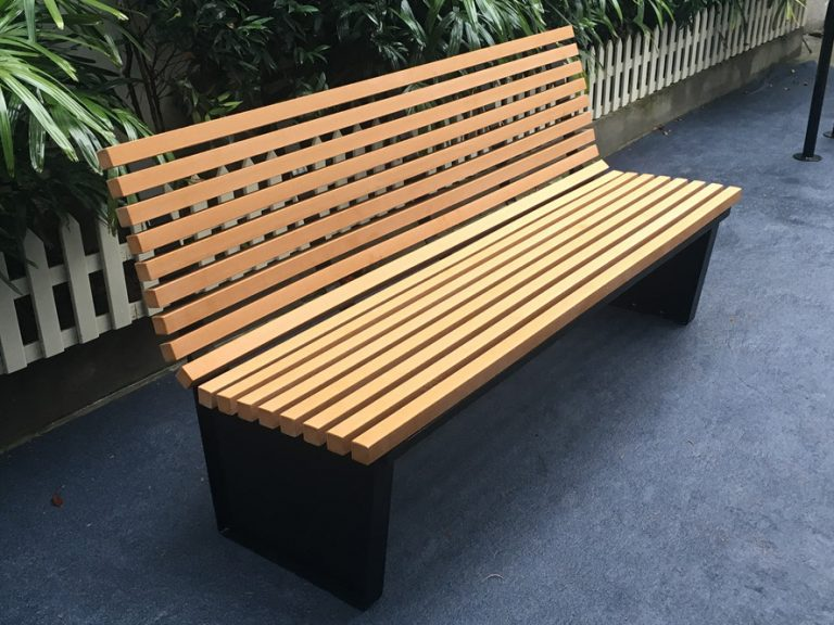 Commercial Recycled Plastic Park Bench SPB-055 Image 1