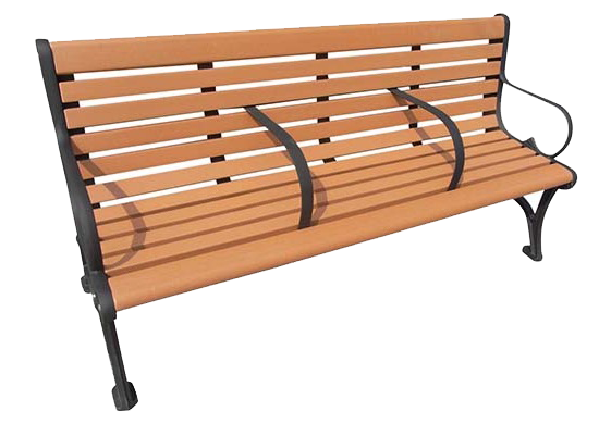 Commercial Recycled Plastic Park Bench SPB-060 Cover Image