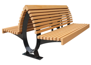 Commercial Recycled Plastic Park Bench SPB-100 Cover Image