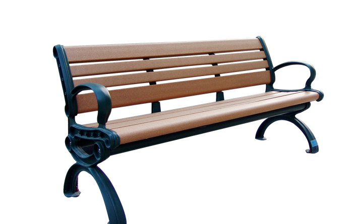 Commercial Recycled Plastic Park Bench SPB-102 Cover Image