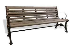 Commercial Recycled Plastic Park Bench SPB-103 Cover Image