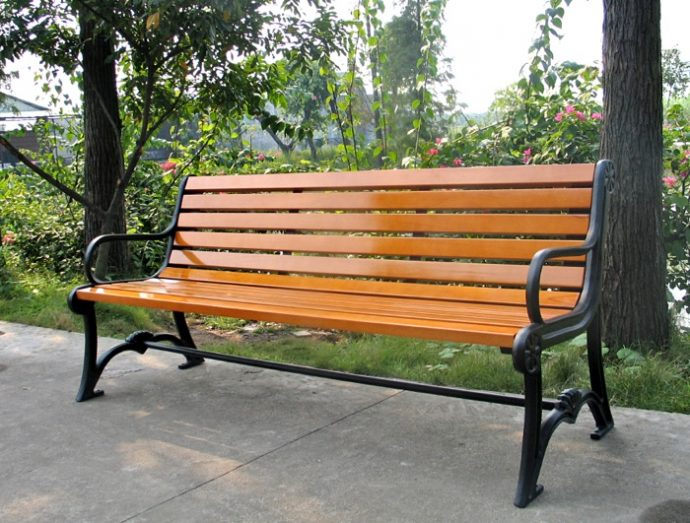 Commercial Recycled Plastic Park Bench SPB-103 Image 1
