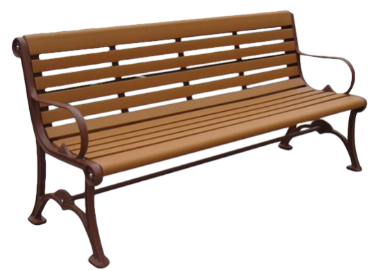 Commercial Recycled Plastic Park Bench SPB-103 Image 2