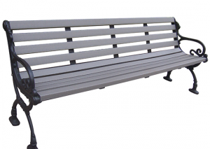 Commercial Recycled Plastic Park Bench SPB-104 Cover Image