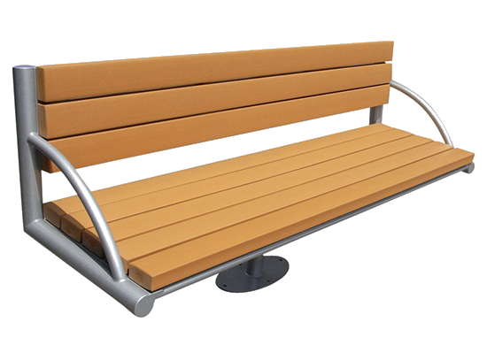 Commercial Recycled Plastic Park Bench SPB-105 Cover Image