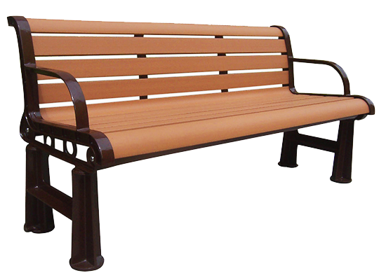 Commercial Recycled Plastic Park Bench SPB-106 Cover Image
