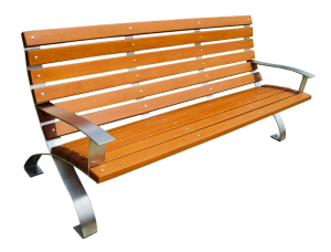 Commercial Recycled Plastic Park Bench SPB-107 Cover Image