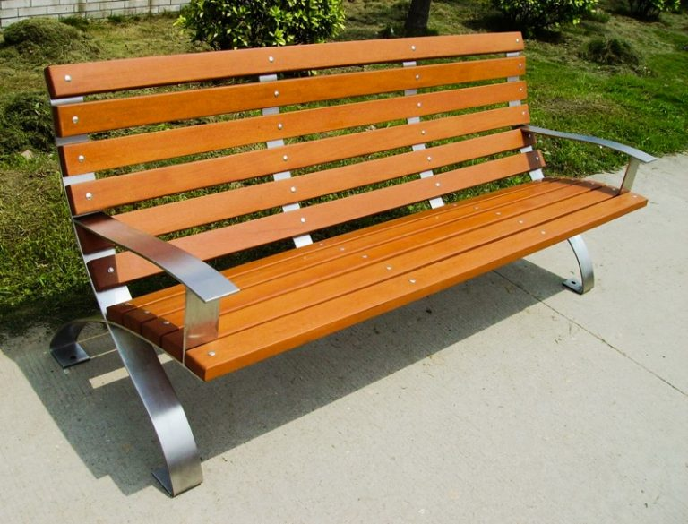 Commercial Recycled Plastic Park Bench SPB-107 Image 1