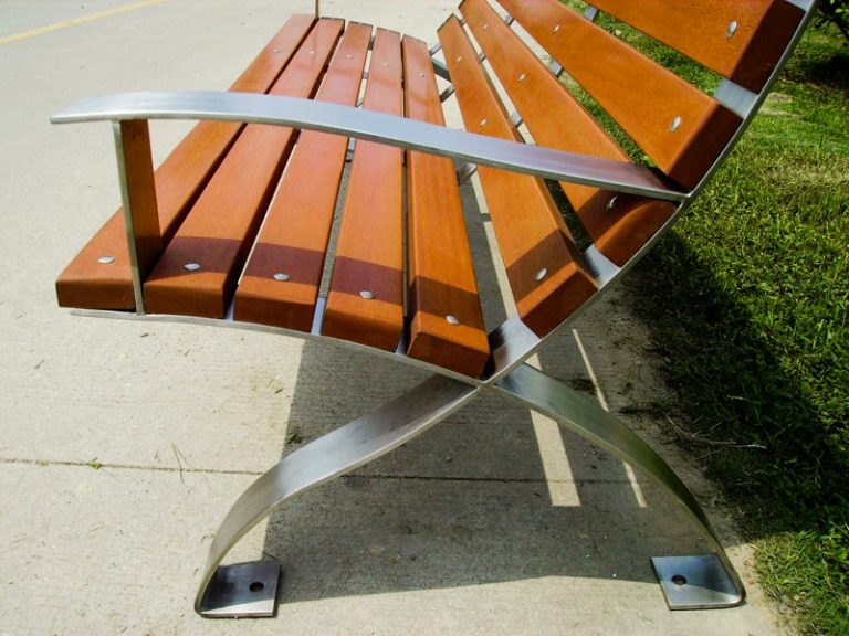 Commercial Recycled Plastic Park Bench SPB-107 Image 2