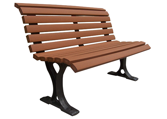 Commercial Recycled Plastic Park Bench SPB-109 Cover Image