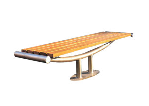 Commercial Recycled Plastic Park Bench SPB-202 Cover Image