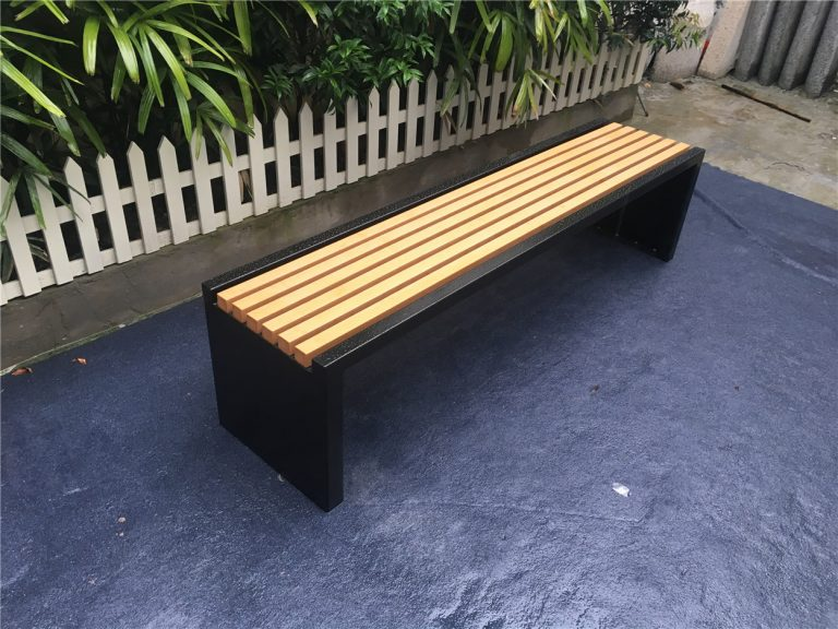 Commercial Recycled Plastic Park Bench SPB-204 Image 1