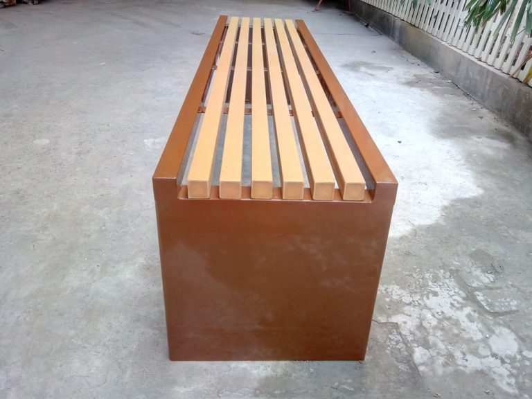 Commercial Recycled Plastic Park Bench SPB-204 Image 3