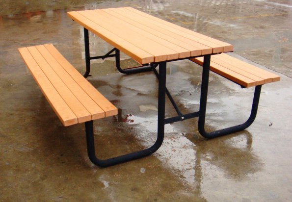 Commercial Recycled Plastic Picnic Table SPP-101 Image 1