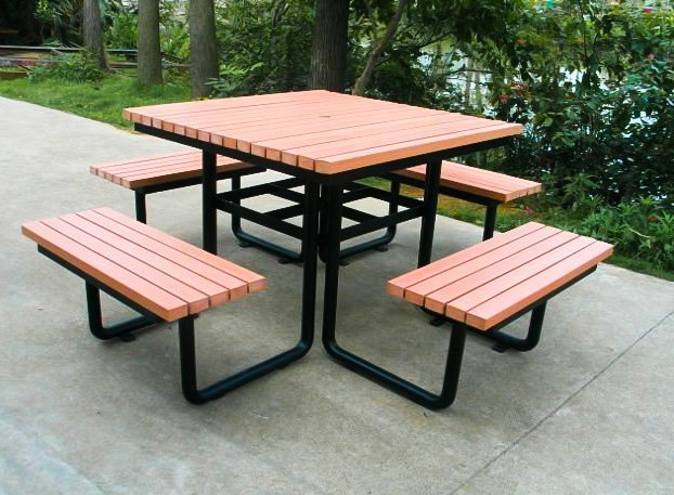 Commercial Recycled Plastic Picnic Table SPP-103 Image 3