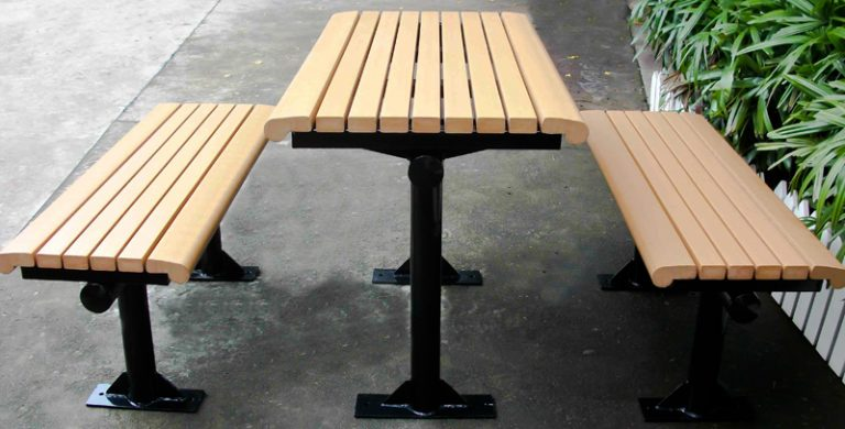 Commercial Recycled Plastic Picnic Table SPP-C01 Image 1