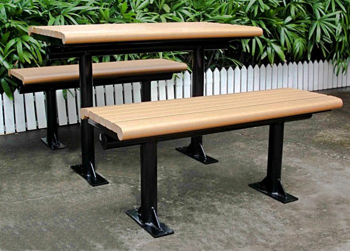 Commercial Recycled Plastic Picnic Table SPP-C01 Image 2