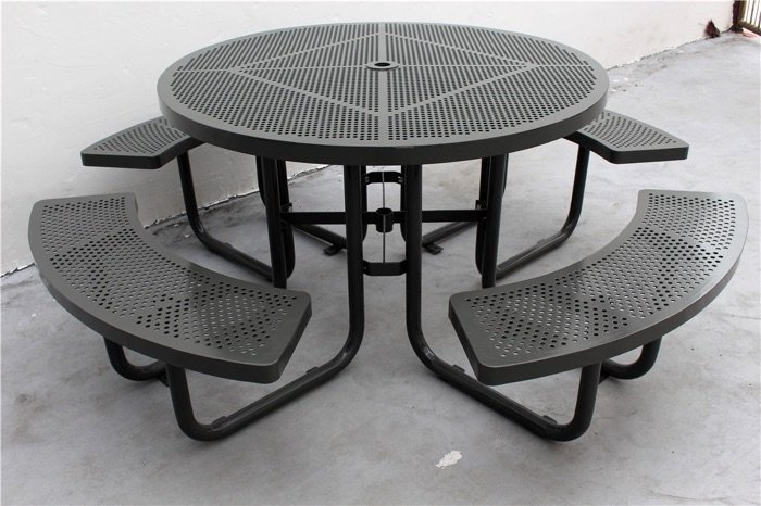 Commercial Steel Picnic Table / SPP-203 color code RAL 7002 grey