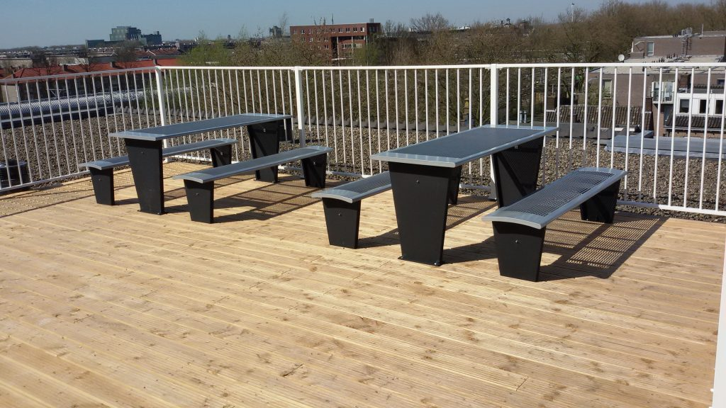 Commercial Steel Picnic Table SPP-302 Image 2