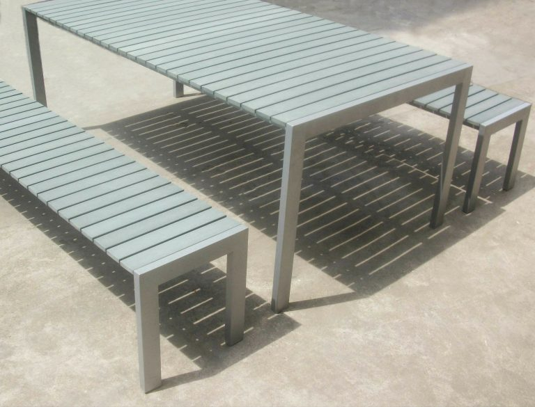 Commercial Recycled Plastic Outdoor Picnic Table SPP-305 Image 1