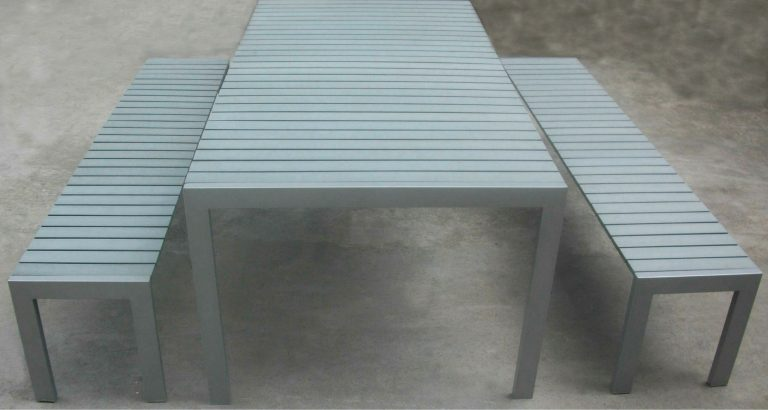 Commercial Recycled Plastic Outdoor Picnic Table SPP-305 Image 2