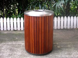 Commercial Outdoor Trash Receptacle SPT-206 Image 1