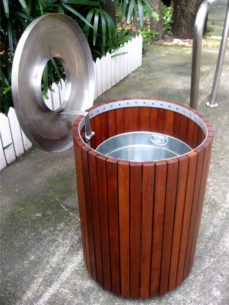 Commercial Outdoor Trash Receptacle SPT-206 Image 2
