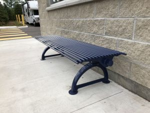 Commercial Outdoor Backless Metal Bench SPB-401